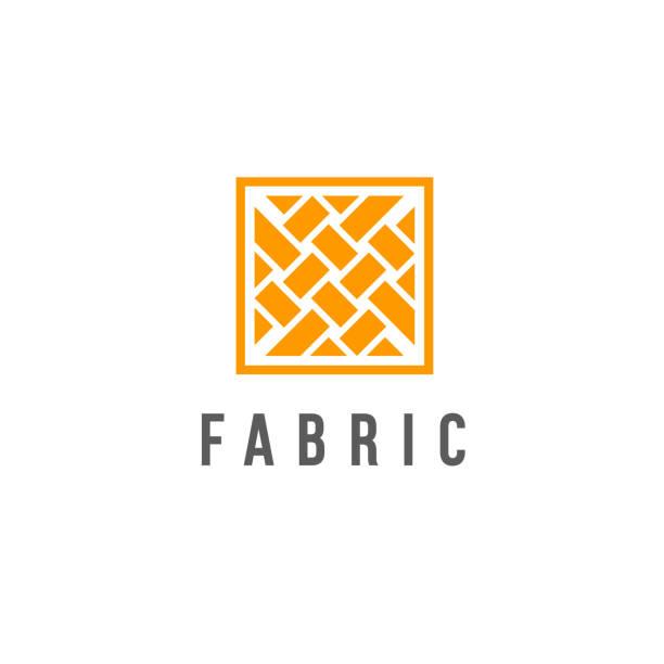 vektor-icon-design-vorlage für shop-stoff, stricken, textil - wollteppich stock-grafiken, -clipart, -cartoons und -symbole