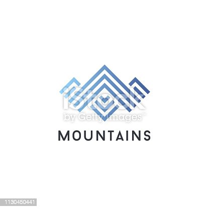 Vector icon design template. Mountains abstract concept