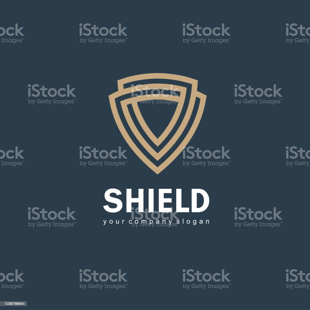 Vector icon design template. Shield sign royalty-free vector icon design template shield sign stock illustration - download image now