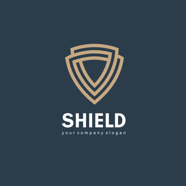Vector icon design template. Shield sign Vector icon design template. Shield sign security stock illustrations