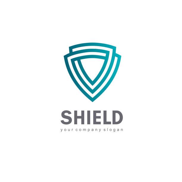 Vector icon design template. Shield sign Vector icon design template. Shield sign shield stock illustrations
