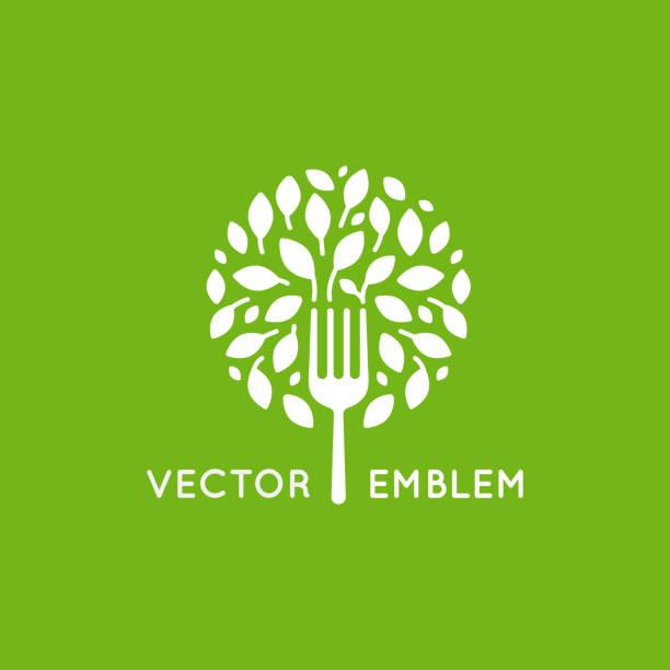 Modèle de conception vector icon - concept alimentaire végétalien - Illustration vectorielle