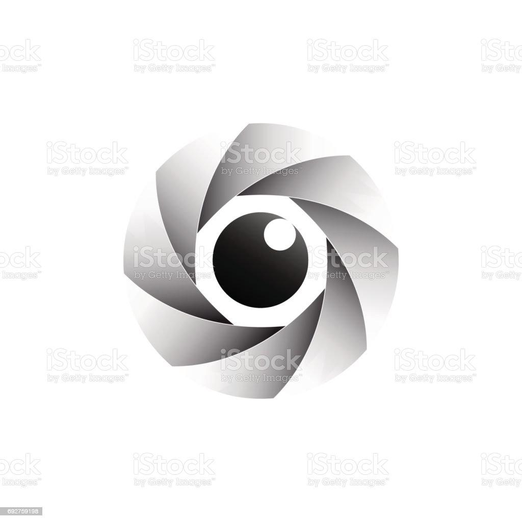 Ilustração De Olho E O Diafragma De ícone De Vetor E Mais Banco De