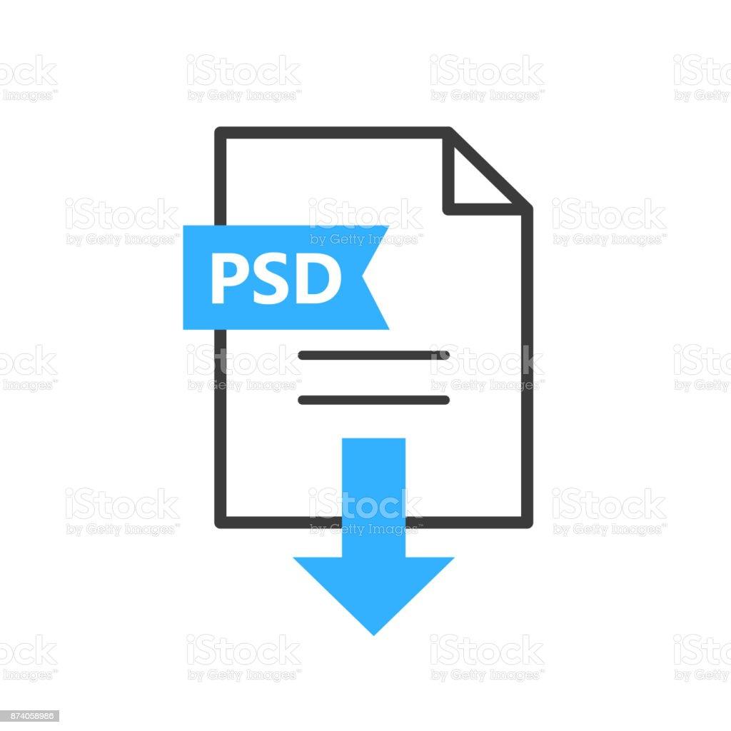 PSD vector icon. Downloaden van bestandvectorkunst illustratie