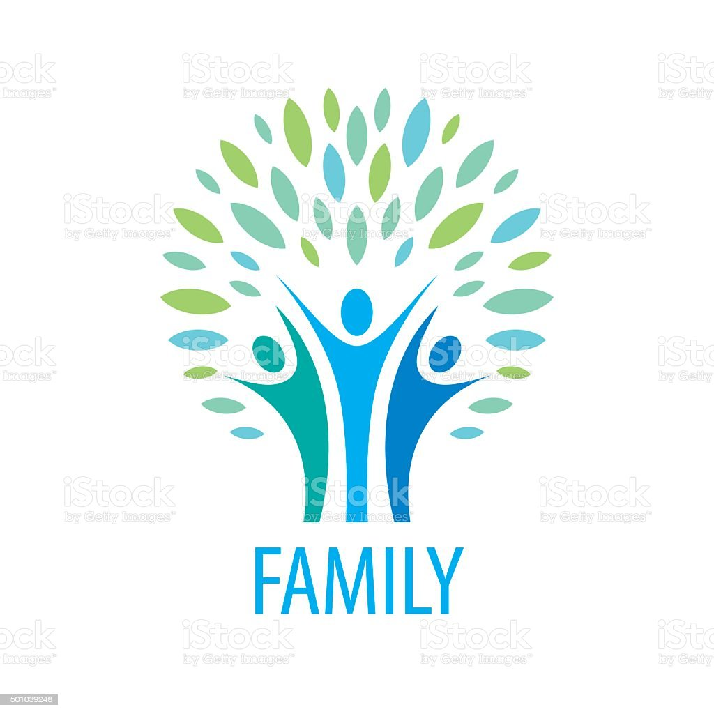 vector icon family vector art illustration