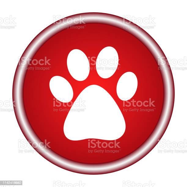 Vector icon footprint of an animal vector id1142418662?b=1&k=6&m=1142418662&s=612x612&h= fdtij0uym7ak0rg dodwbasjhxtfdjfawmkw2ioziq=
