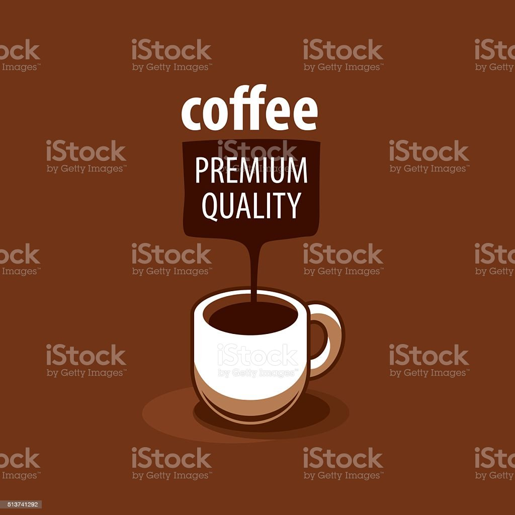 vector icon for coffee vector art illustration