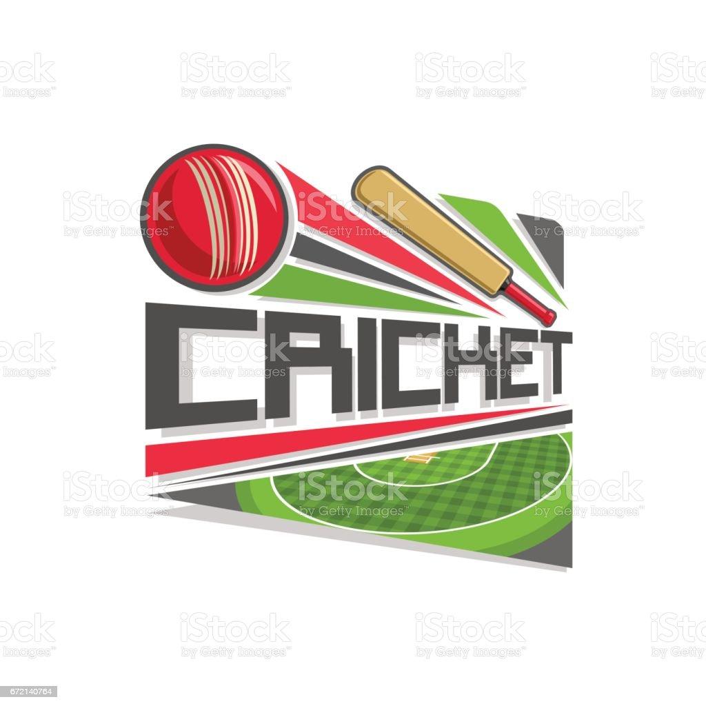 Icono de vector de juego de Cricket - ilustración de arte vectorial