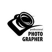 vector icon for photographer. Illustration drawn camera