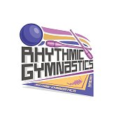Vector icon for Rhythmic Gymnastics