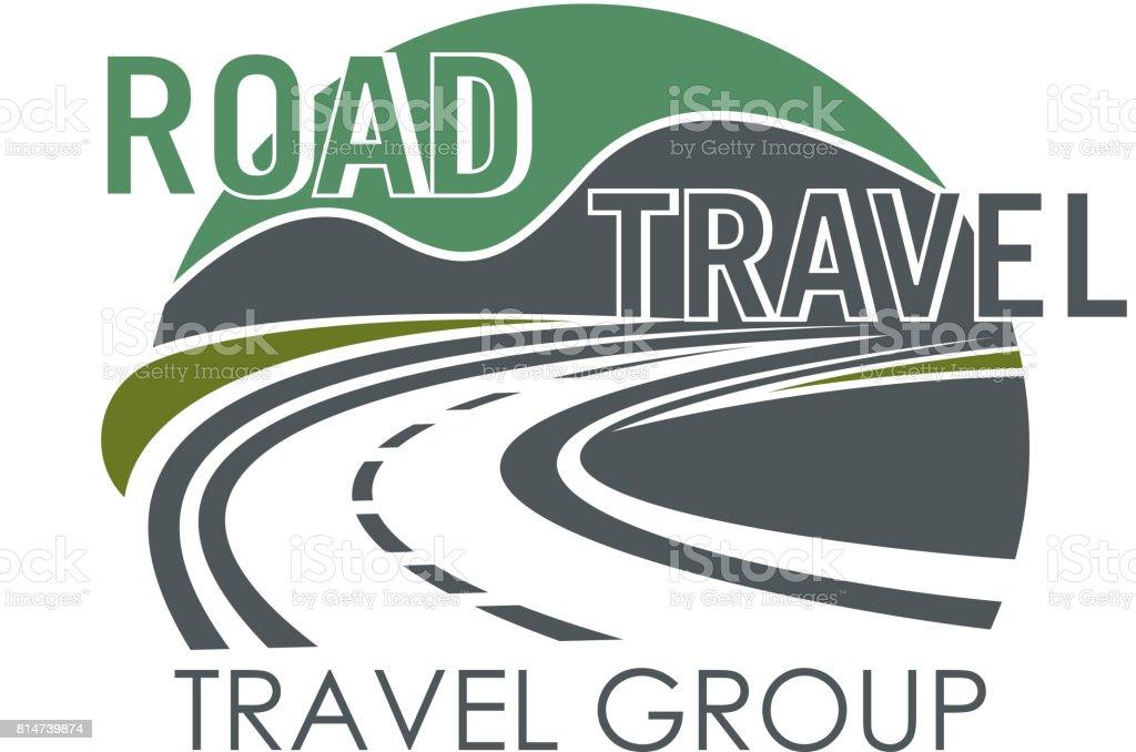 Icono de vector para el grupo de viaje o turismo carretera - ilustración de arte vectorial