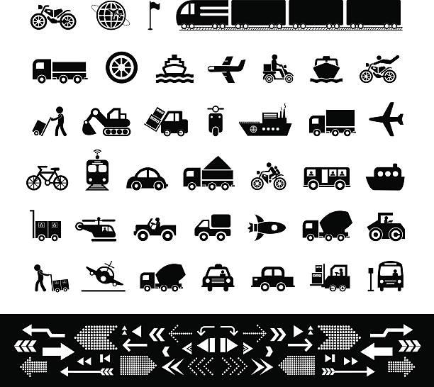 stockillustraties, clipart, cartoons en iconen met vector icon for transport - airport pickup