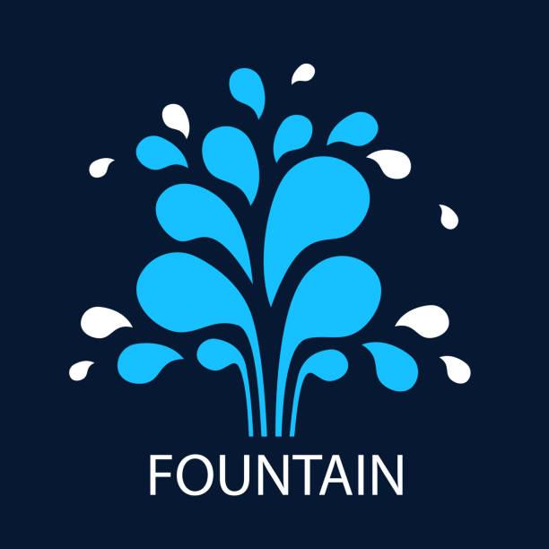 vector icon fountain. symbol design template fountain and drop. - fontanna stock illustrations
