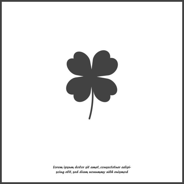 Vector icon four-leafed clover icon on white isolated background. Layers grouped for easy editing illustration. For your design. Vector icon four-leafed clover icon on white isolated background. Layers grouped for easy editing illustration. For your design. four people stock illustrations
