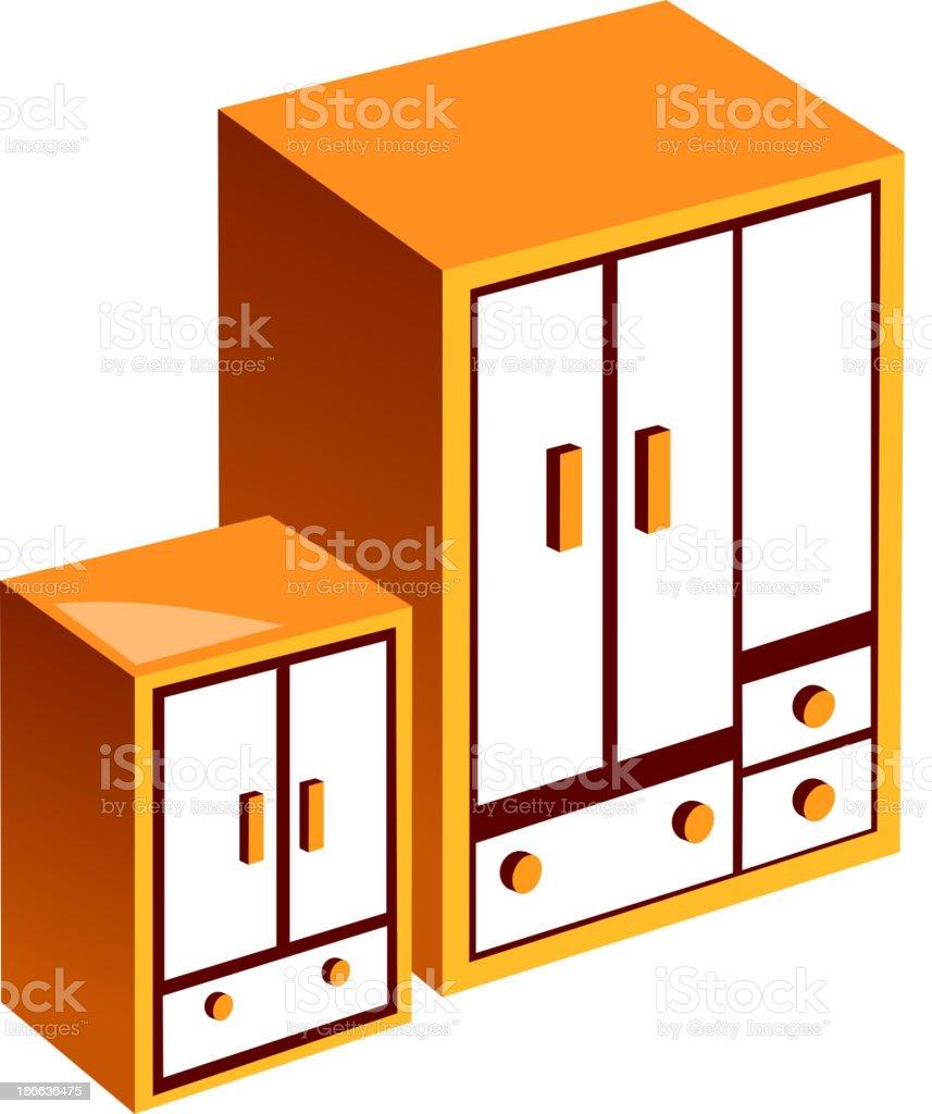 Kleiderschrank clipart  Vektoricon Möbel Stock Vektor Art und mehr Bilder von ClipArt ...