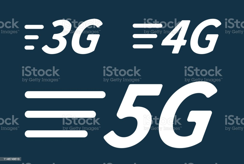 5g 4g 3g Vector Icon Generations Mobile Wireless Internet