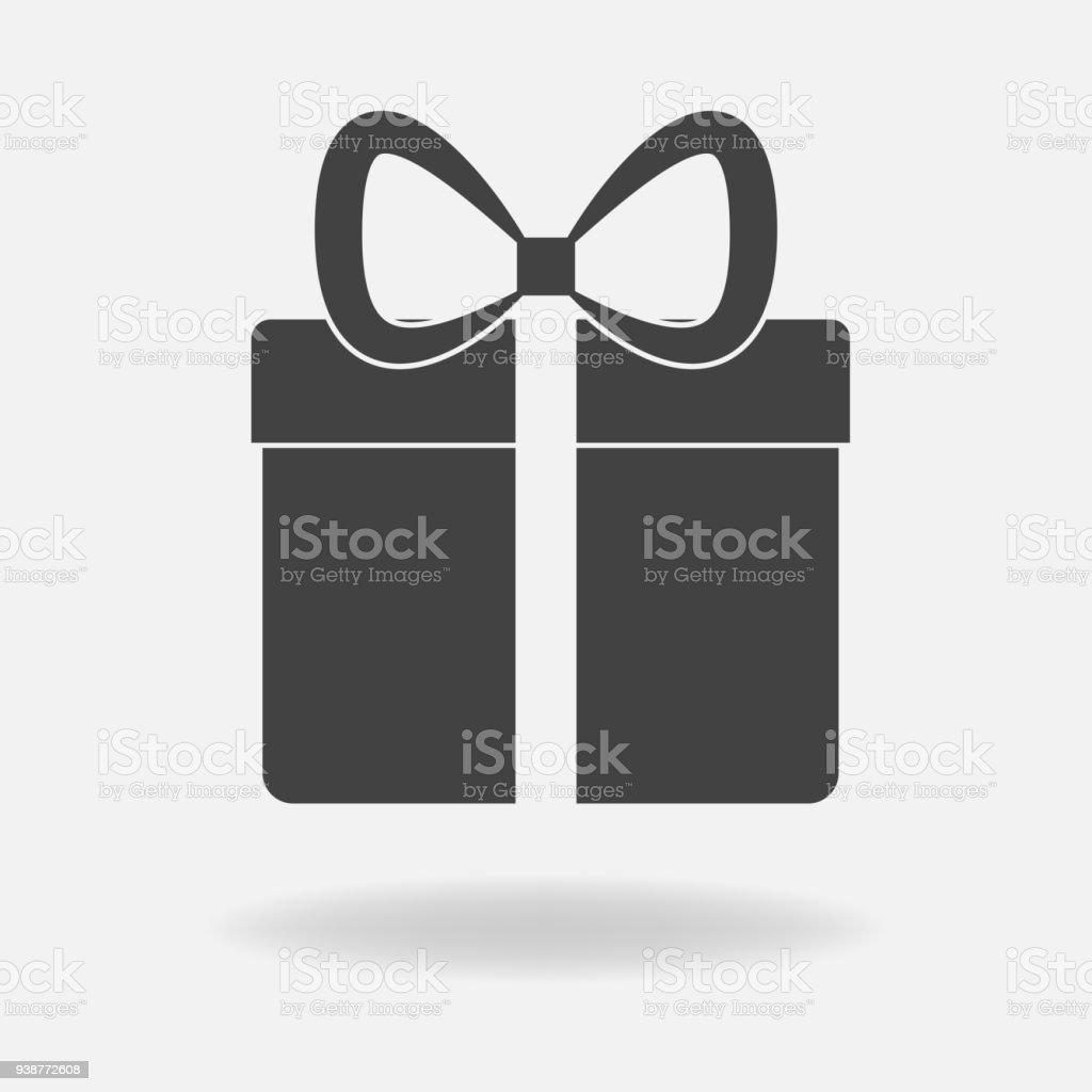 Vektorsymbolgeschenkbox Herzlichen Glückwunsch Zu Den Urlaub
