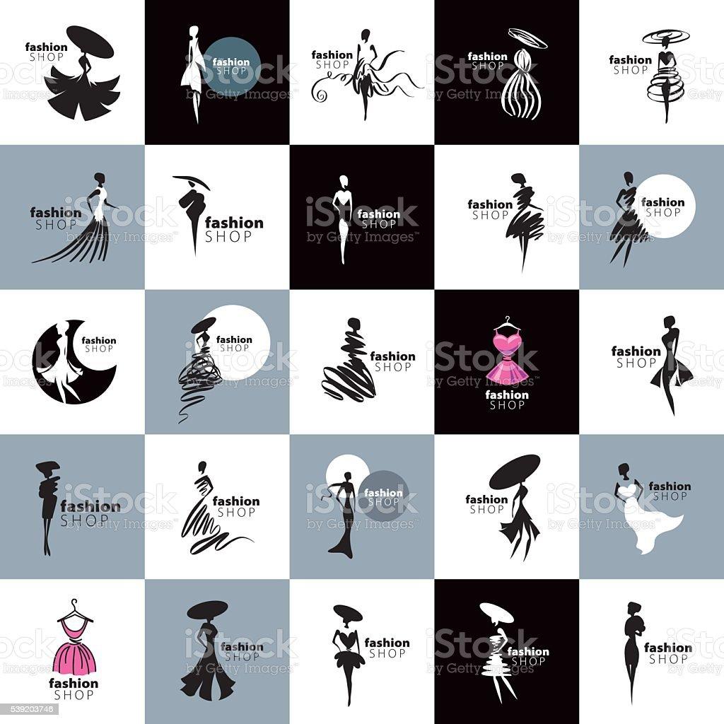vector icon girls vector art illustration