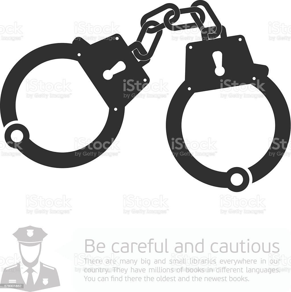 Vector icon handcuffs. - ilustração de arte em vetor