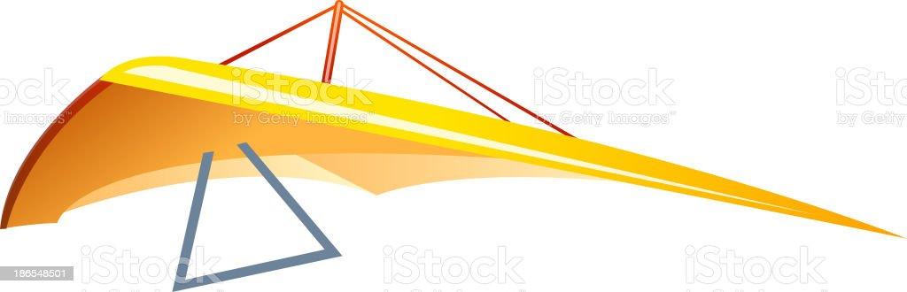 vector icon hang glider vector art illustration