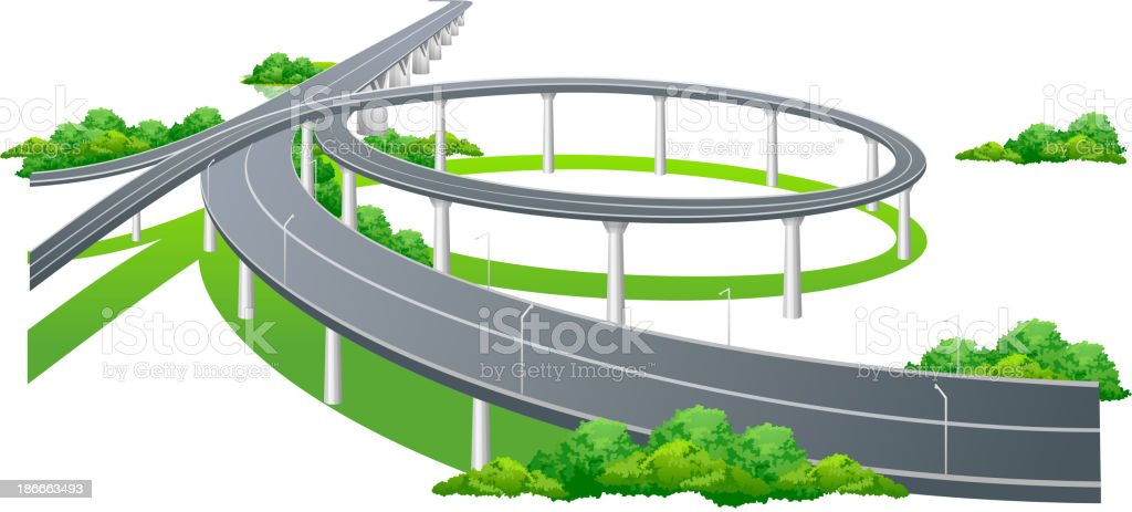 vector icon highway royalty-free stock vector art