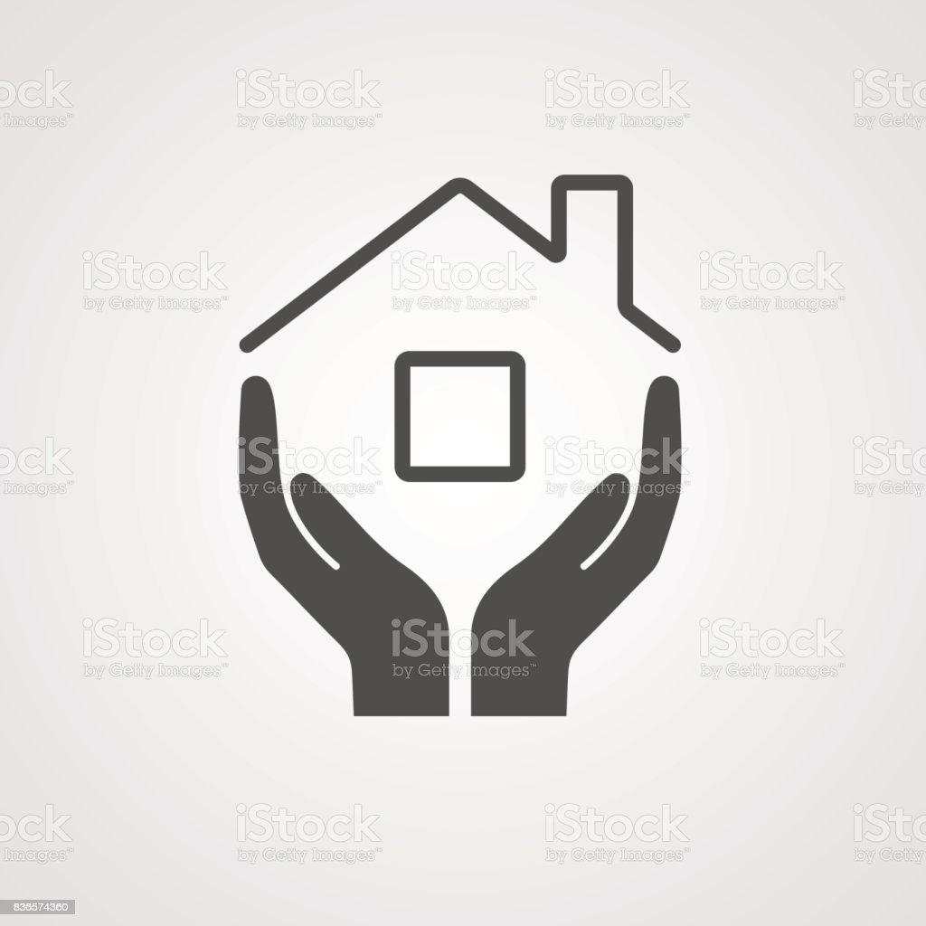 Vector Icon home vector art illustration