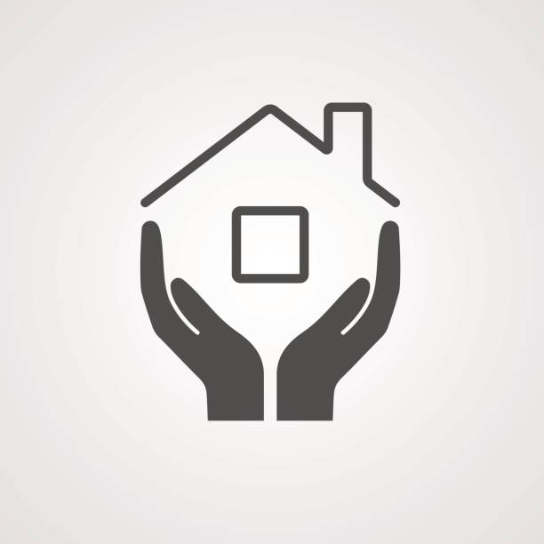 vector icon home - domowy stock illustrations