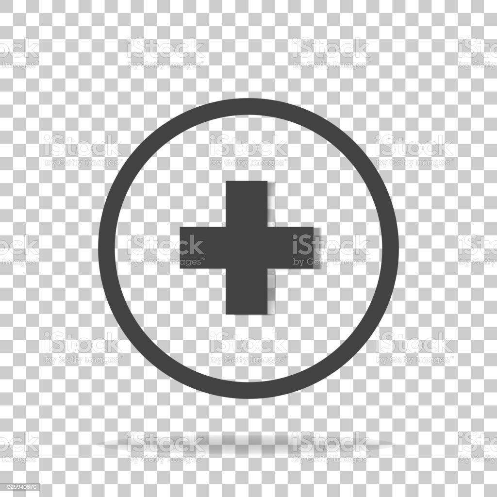 Vector icon hospital medicine on a transparent background medical vector icon hospital medicine on a transparent background medical cross illustration in a circle royalty biocorpaavc Image collections