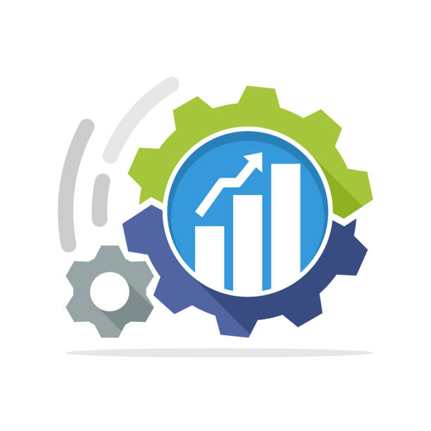 Vector icon illustration with the concept of business development process Vector icon illustration with the concept of business development process automated stock illustrations