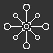 vector icon isolated multichannel on dark background, multichannel logo design .