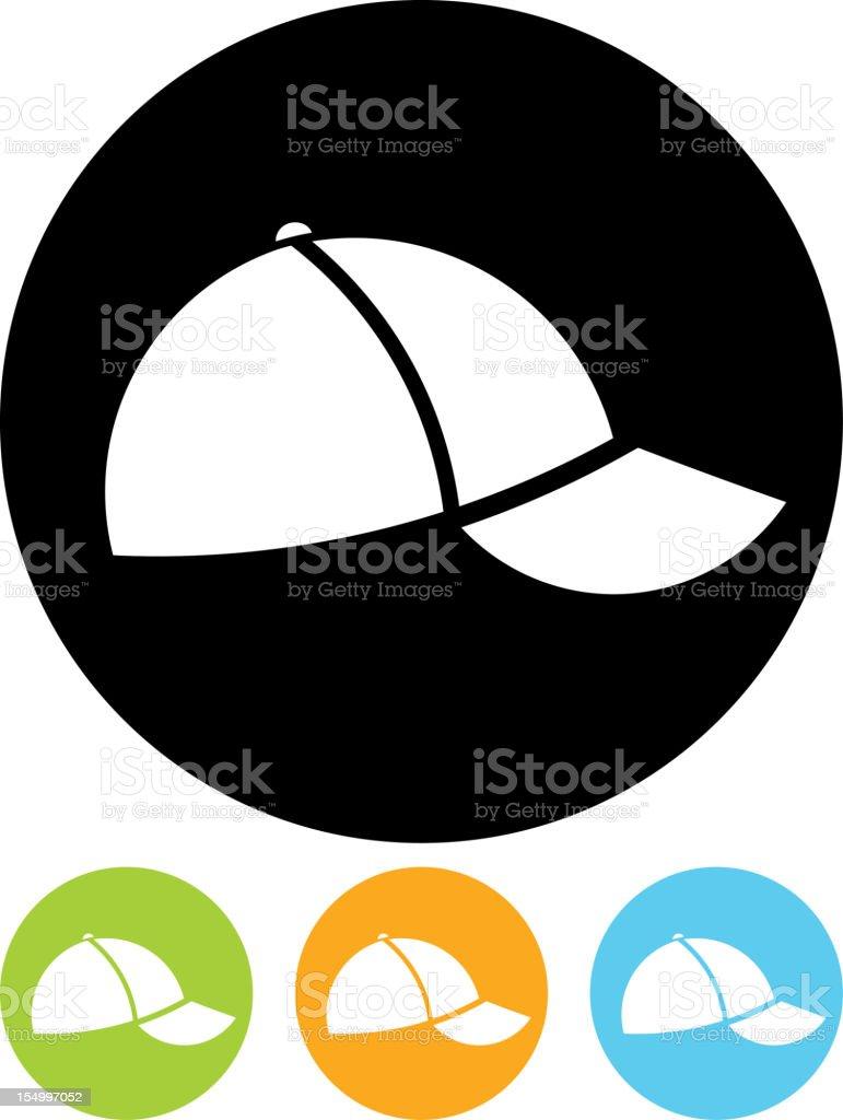 Vector icon isolated on white - Baseball cap vector art illustration