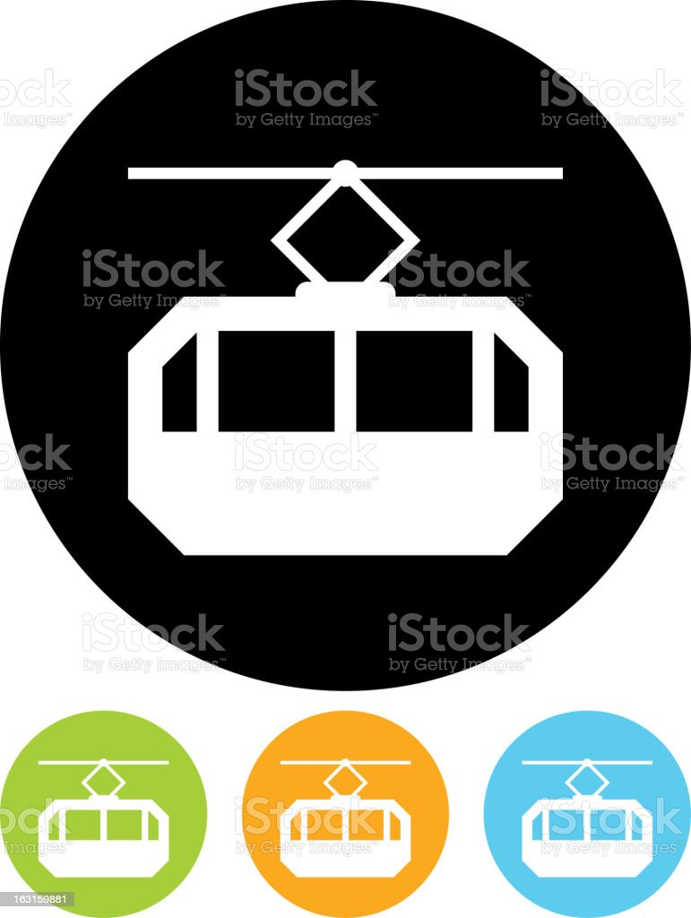 Vector icon isolated on white - Cable way funicular royalty-free stock vector art