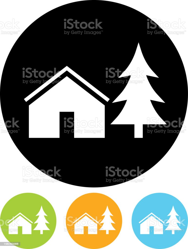Vector icon isolated on white - Camping tent royalty-free stock vector art