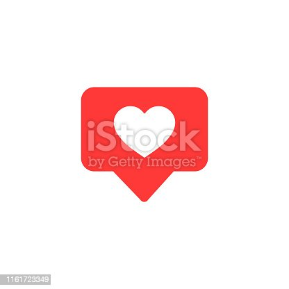 istock Vector icon like.Thumbs up  with heart shape. Social media red icon on isolated background. vector eps10 1161723349