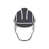 vector icon man in helmet