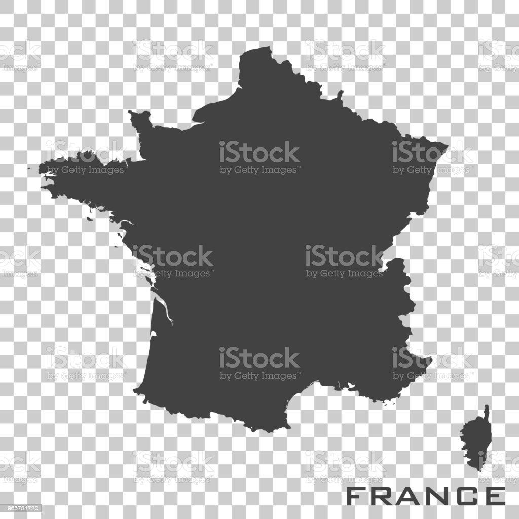 Vector icon map of France  on transparent background - Векторная графика Без людей роялти-фри