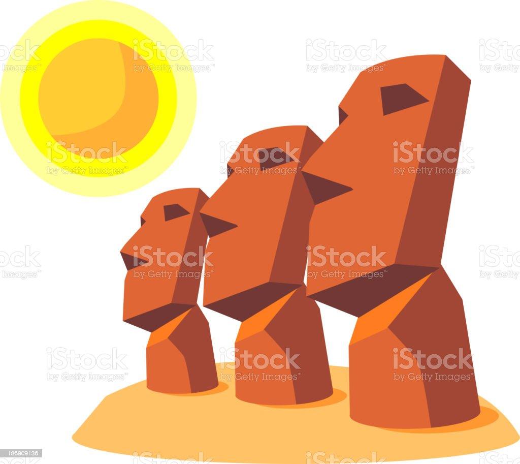 vector icon moai vector art illustration