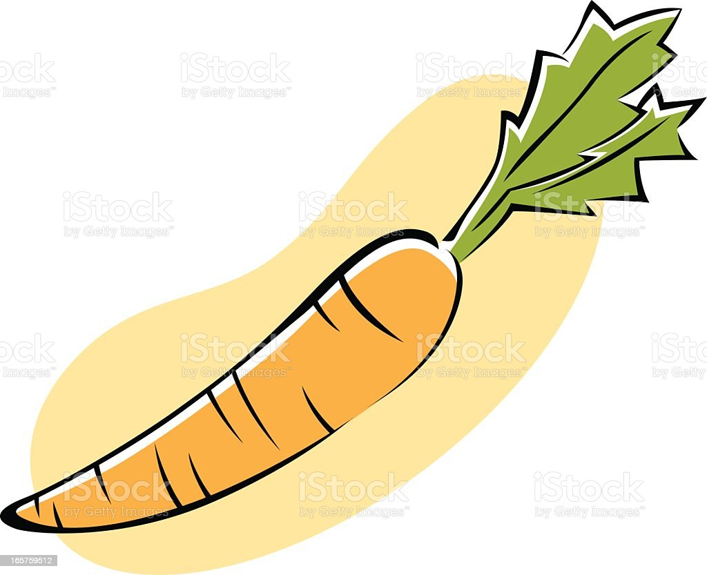 Vector Icon of a Carrot Isolated on White Background. royalty-free stock vector art