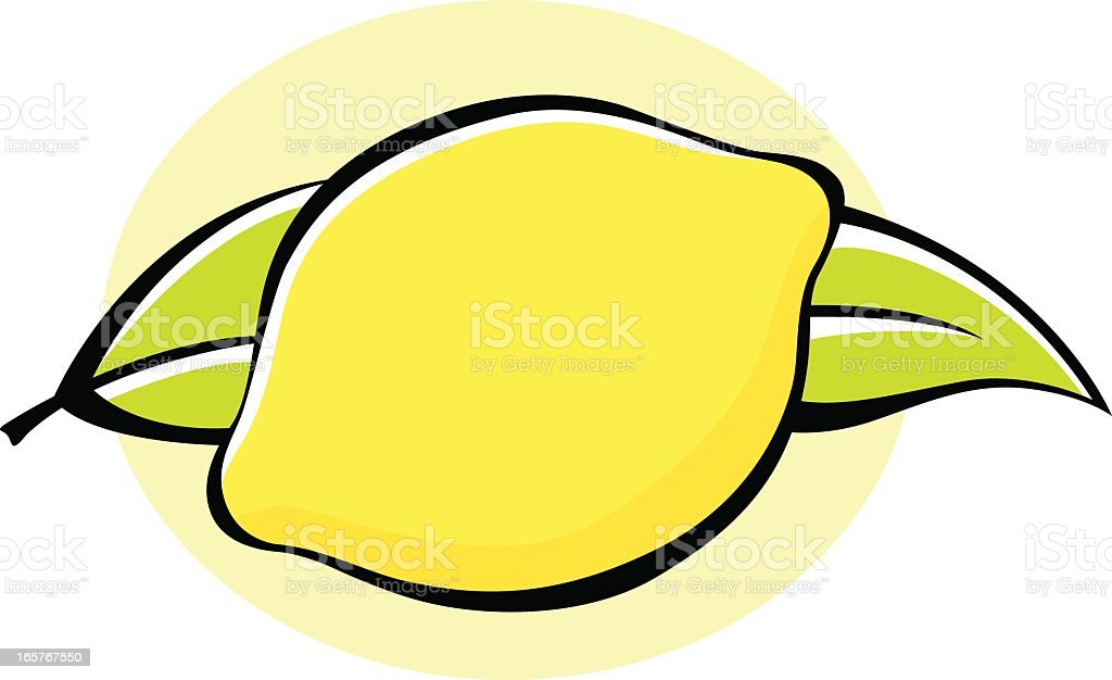 Vector Icon of a Lemon Fruit Isolated on White Background. royalty-free stock vector art