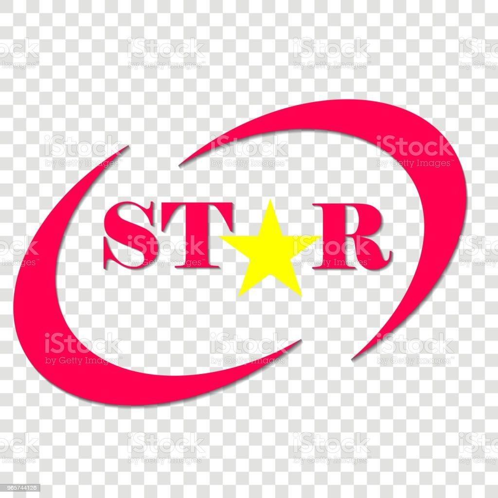 Vector pictogram van een ster. Ster inscriptie en ster-object. Logo voor uw ontwerp. - Royalty-free Advertentie vectorkunst