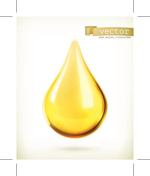 stockillustraties, clipart, cartoons en iconen met vector icon of an oil drop floating - siroop