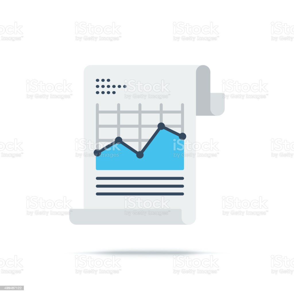 Vector Icon of Analytics Chart vector art illustration
