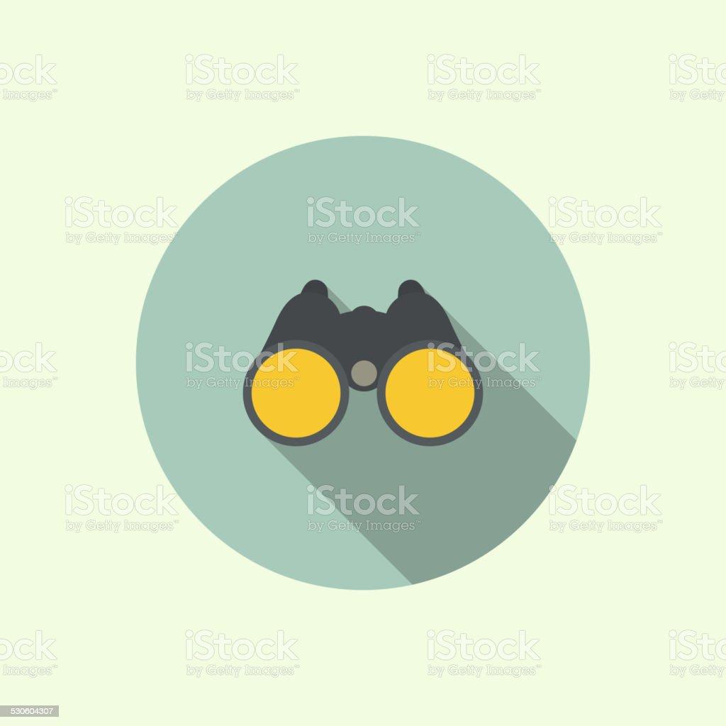 Vector icon of binoculars. vector art illustration