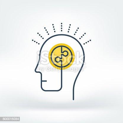 istock Vector Icon of Brainstorming 500015034