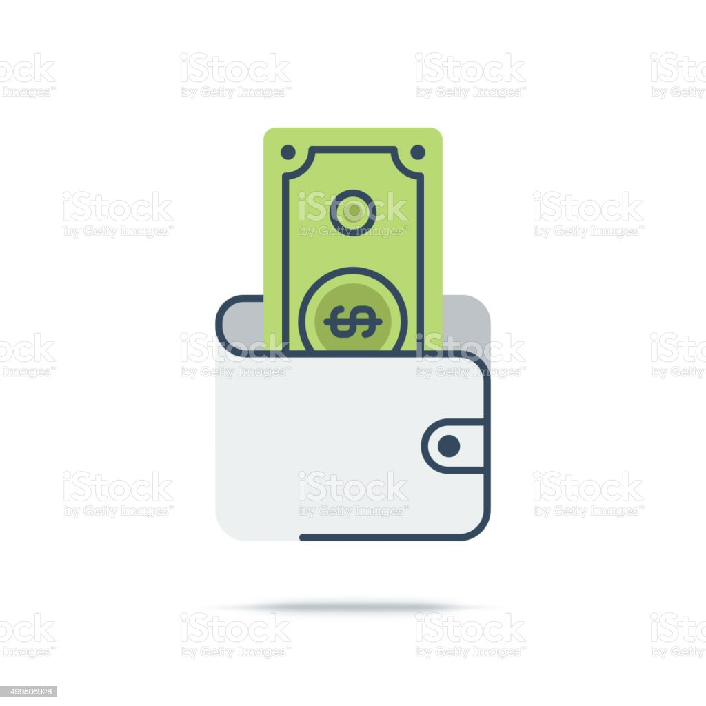 Vector Icon of Budget vector art illustration
