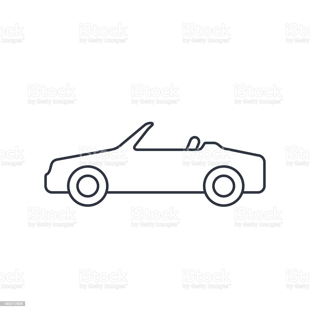 Vector icon of cabriolet vector art illustration