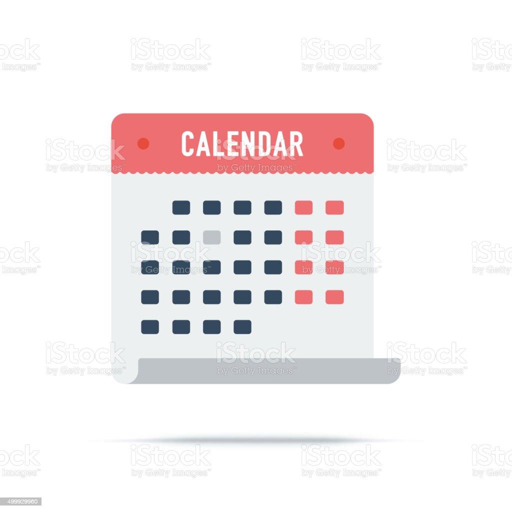 Vector Icon of Calendar vector art illustration