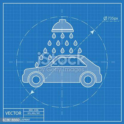 Vector icon of car wash blueprint style stock vector art 523618550 vector icon of car wash blueprint style stock vector art 523618550 istock malvernweather Images