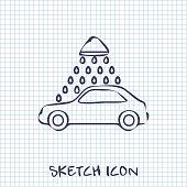 Vector icon of car wash