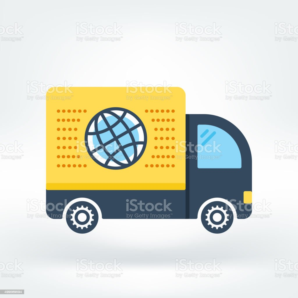 Vector Icon of Delivery Icon vector art illustration